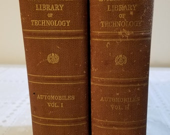 1921 International Library of Technology Automobiles Volumes I & II