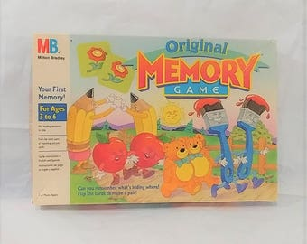 Milton Bradley Original Memory Game 1994 Disney Instructions 72 Picture Cards Complete Made In U.S.A. Match Pairs  Vintage