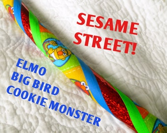 Sesame Street Child Dance & Exercise Glow in the Dark Hula Hoop elmo big bird cookie monster kid