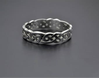 Celtic Design Sterling Silver Band