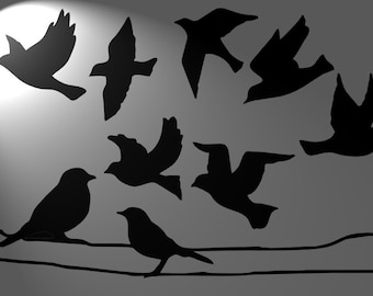 Retro vintage  raven stencil A4  mylar 125 micron , bird, craft, aerograph , tatoo,Shabby chic,french ,furniture