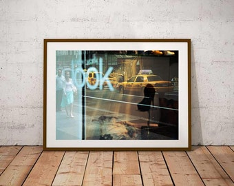 Fine Art Print New-York Photo – 5th Avenue Color Street Photography Yellow Cab Atmosphere Lomo Style Art Print Poster Lomo style
