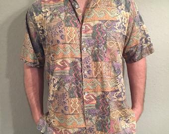 Tori Richard Honolulu Mens Hawaiian sz L