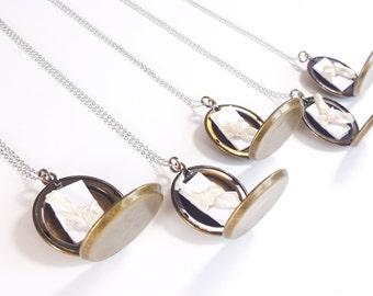 Bridesmaid Locket - Silver Necklace - Personalized Wedding Gift - Personalized Bridesmaid Locket - Secret Note Locket - Bridesmaid Necklace