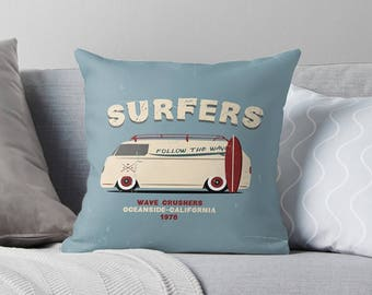 Surf Throw Pillow | Surf Cushion | Surf Pillowcase | Surf Pillow Cover | Surf Pillow Case | Surf Pillow | Surf Décor