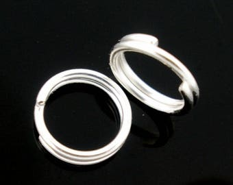 15 DOUBLE OPEN RING METAL SILVER 5MM.