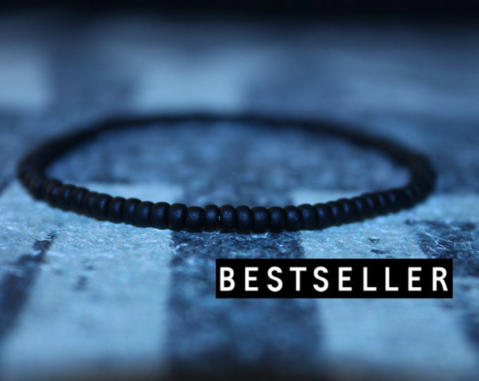 Featured listing image: Mens Beaded Bracelet, Mens Bracelet, Minimalist jewelry, Minimalist Bracelet, Mens Jewelry, Beaded Bracelet, Boyfriend Gift, Men's Gift