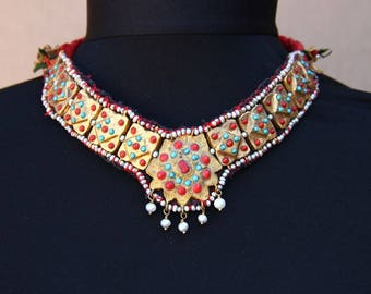 Khiva Khorezm gold washed choker - necklace