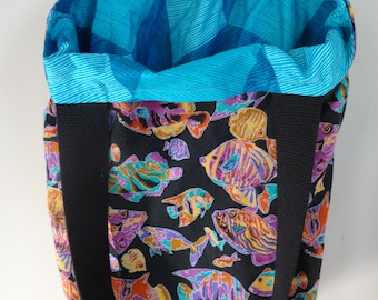 Under the Sea Everything Tote, Reversible! Tote Bag, Shoulder Bag, Books, Purse, Library, Market, Farmers Market, Shopping, Gifts under 20