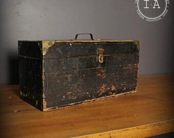 Vintage Handmade Machinist Wooden Tool Box