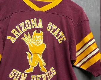 S vintage 80s Arizona State Sun Devils t shirt jersey
