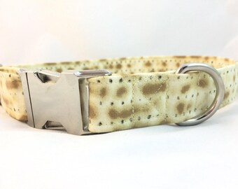 Matzoh Dog Collar - Jewish dog collar - Passover dog collar - Fun Collar - Pessach Dog Collar - Food lovers Dog Collar - Dog Collar