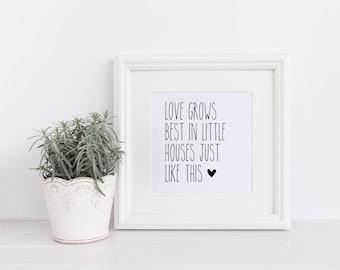 Love Grows Best Printable, Love Grows Best Sign, Farmhouse Printable, Farmhouse Sign, Farmhouse Wall Art, Farmhouse Decor, Farmhouse Prints