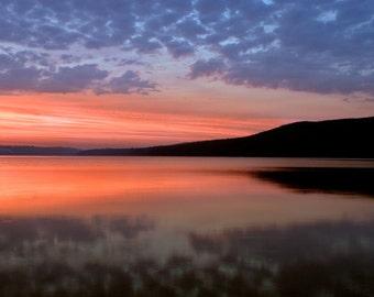 Sunset over Little Glen Lake at Sleeping Bear Dunes, Michigan