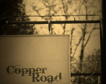 Copper Road, Fine Art Photography, Sepia Photography