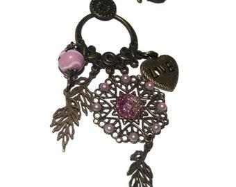 Bag charm key love