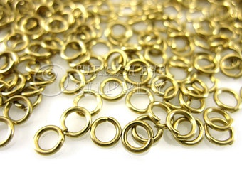250 Raw Brass 4x0.70mm Jump Rings, JumpRing Connector, Brass Jumpring, Open Jump Rings, Raw Brass Findings