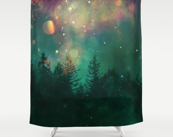 Shower Curtain (fabric) - wilderness, trees, treescape, fantasy, Photography, Nature, RDelean