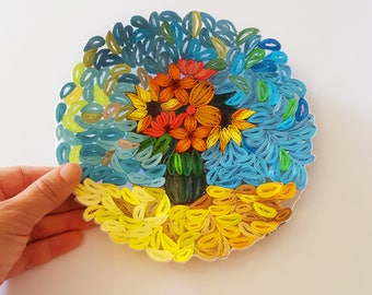 flowers paper quilling art