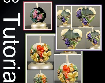 Jacqueline Parkes - Floral Lampwork Bead Recipes with BONUS how to Create Floral Nugget Beads Lampwork tutorial EBook