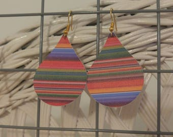 Serape dangle earrings (horizontal stripes)