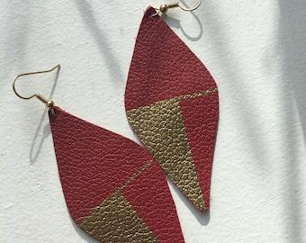 Art for your Ears part II- Leather Earrings