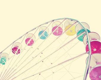 Girl nursery wall decor, Ferris wheel art, little girl room decor, purple nursery decor, toddler girl room, carnival wall art girl