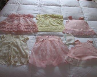 Vintage 6 baby dresses / Vintage baby's 6 dresses