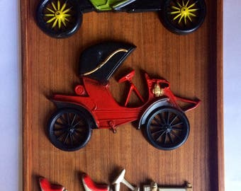 Midwest Co. Vintage Car Wall Hangings, Set of 3