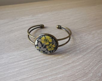 Liberty fabric cabochon Bangle