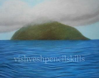Hope - The island original pastel artwork