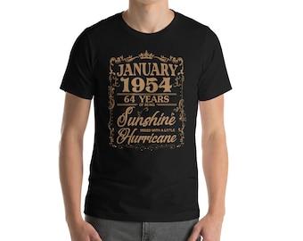 January 1954 64 Years of Being Sunshine Hurricane T-Shirt