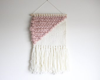 Rose - Ready to Ship   Tapestry   Home Decor   Woven Wall Hanging   Blush   Texture