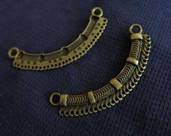 1 large medium bronze necklace connector bronze bib necklace ethnic 70/11 mm