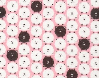 Cloud 9 Premium Cotton Flannel - Dolittle Sheep Pink - 17 inches