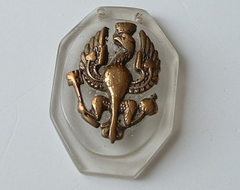Vintage perspex pendant with eagle motif