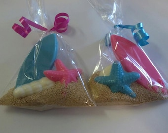Chocolate Surfboard Party Favor Bags  - Luau Party Favors