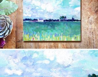 Modern Farmhouse Barn wall art/Midwest Landscape/