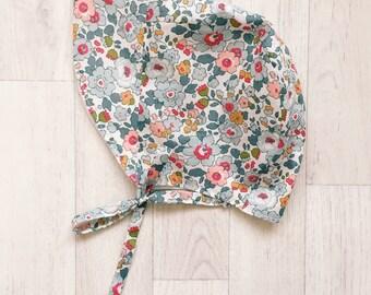JASMINE Handmade Liberty of London Print BRIMMED Summer Bonnet Girls Tana Lawn Hat