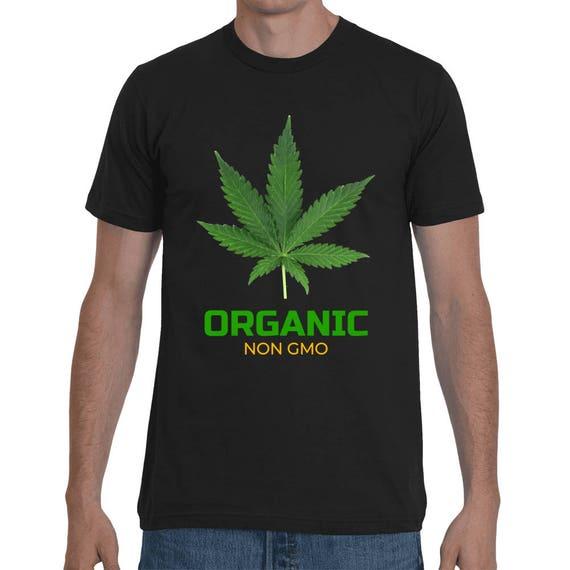 Marijuana Organic Non Gmo Natural Pot Short-Sleeve Reefer 420 Legalize Shirt Unisex Dope T-Shirt Weed pot head Tee