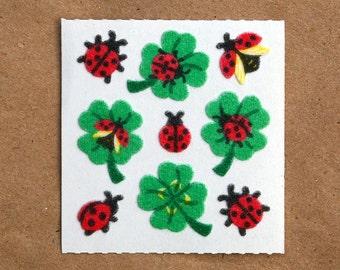 Sandylion Ladybugs & Clovers Fuzzy Stickers