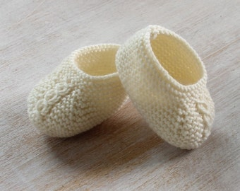 27 / Baby Booties Princess Charlotte / Knitting Instructions in French /  PDF Instant Download / 3 Sizes : Newborn / 3 months / 6 months