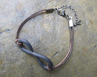 Hand Forged Infinity Bracelet - Great Gift - FREE Gift Box - 11th Anniversary Gift