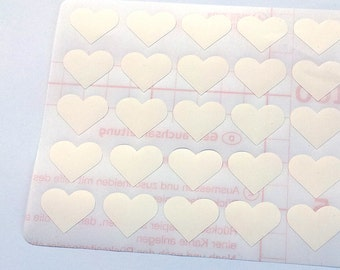 50 White Heart Stickers, Heart Planner Stickers, Heart Envelope Seal, Heart Party Stickers, Heart Wedding Stickers, Heart Birthday Stickers