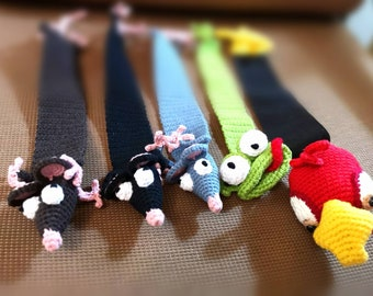 Funny bookmarks/crochet bookmarks