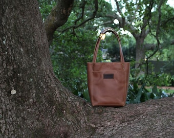 Camel Leather Tote, Leather Tote Bag, Leather Tote, Custom Personalized Tote Bag, The Saffy Tote