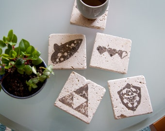 Legend of Zelda Stone Coasters