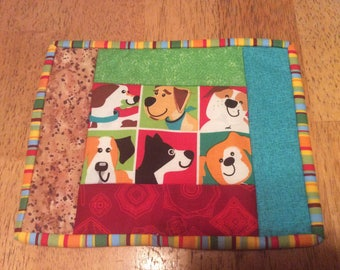 Dog mug rug candle mat