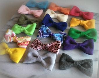 Choose 4 Felt hair clips - made to order - kids toddler felt hair clip bow accessory