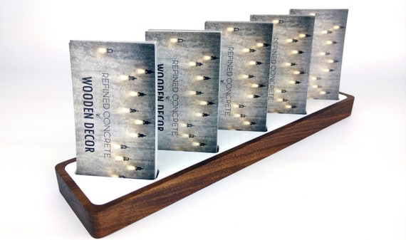 Wooden business card holder for desk vertical multi business colourmoves